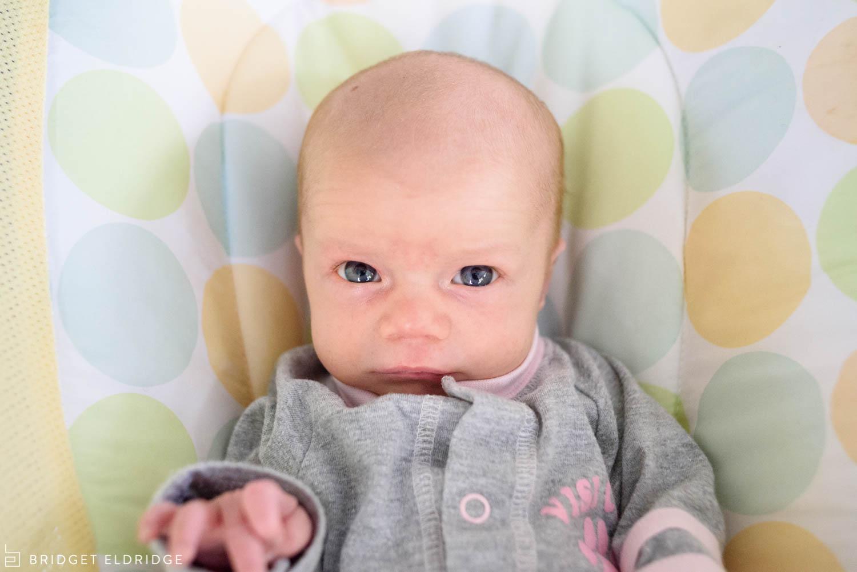 portrait of newborn girl