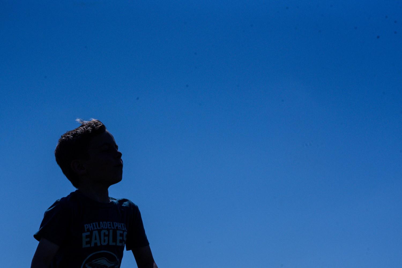 silhouette of a boy in arlington va