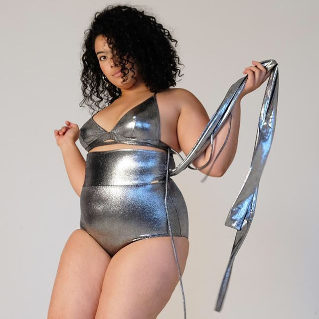 @chelseagoding is our metallic queen! She is in Bianca #bralette and Nikki #pantie | marcelstyle.com | makeup&hair: @katyryanstudios | #BeMarcel