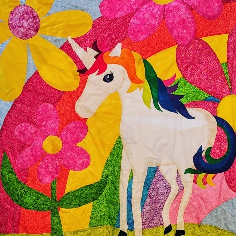 Magical Unicorn #quilt, pattern by Becky Goldsmith