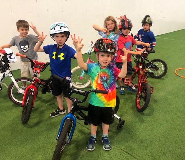 Kids on Bikes at Camp.JPG