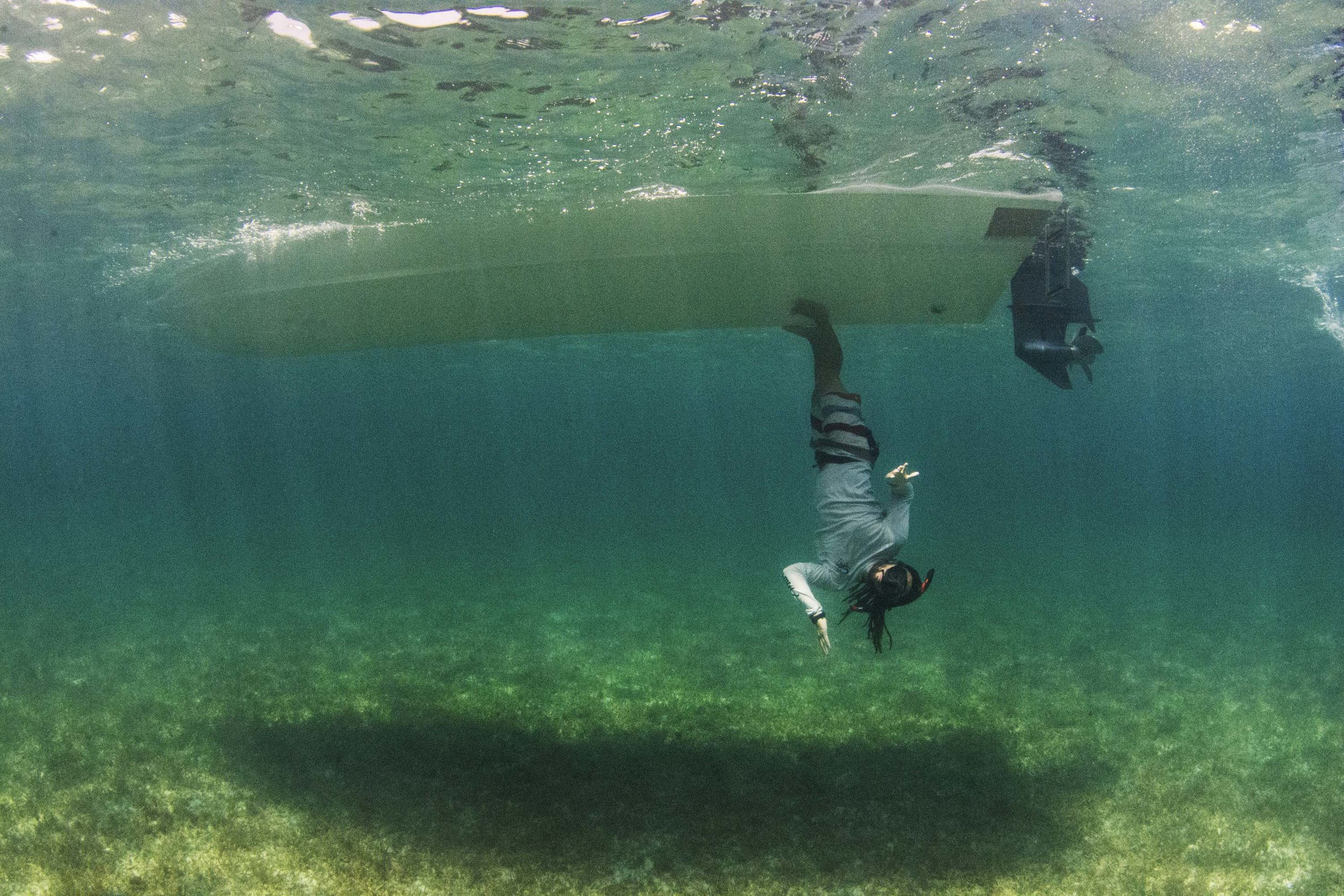 End of the dive snorkel antics!