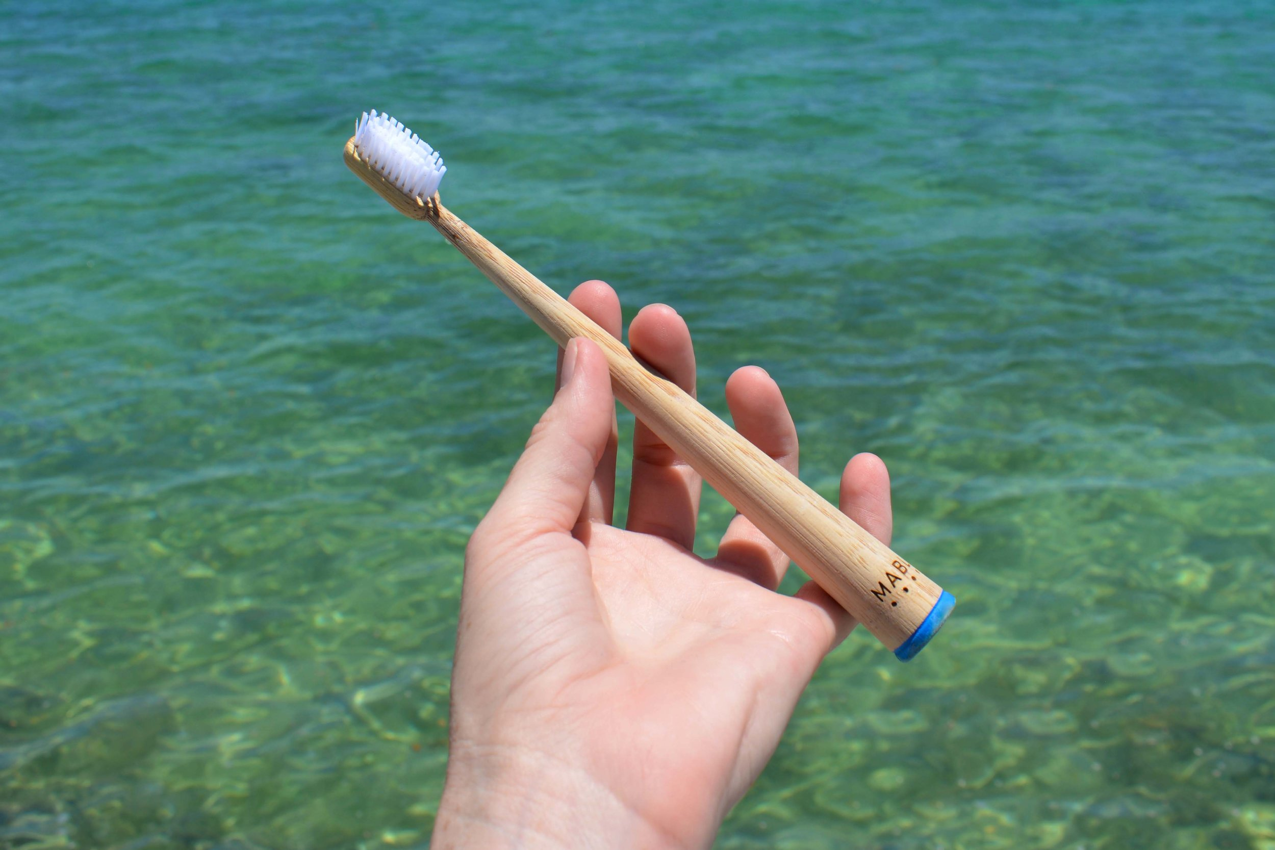 Brushes have biodegradable handles, plastic-free packaging and nontoxic ingredients.