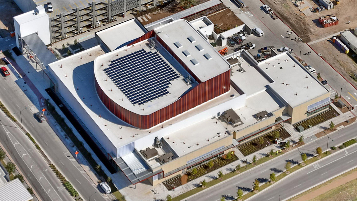 60-kiloWatt rooftop solar array (Performing Arts Center)