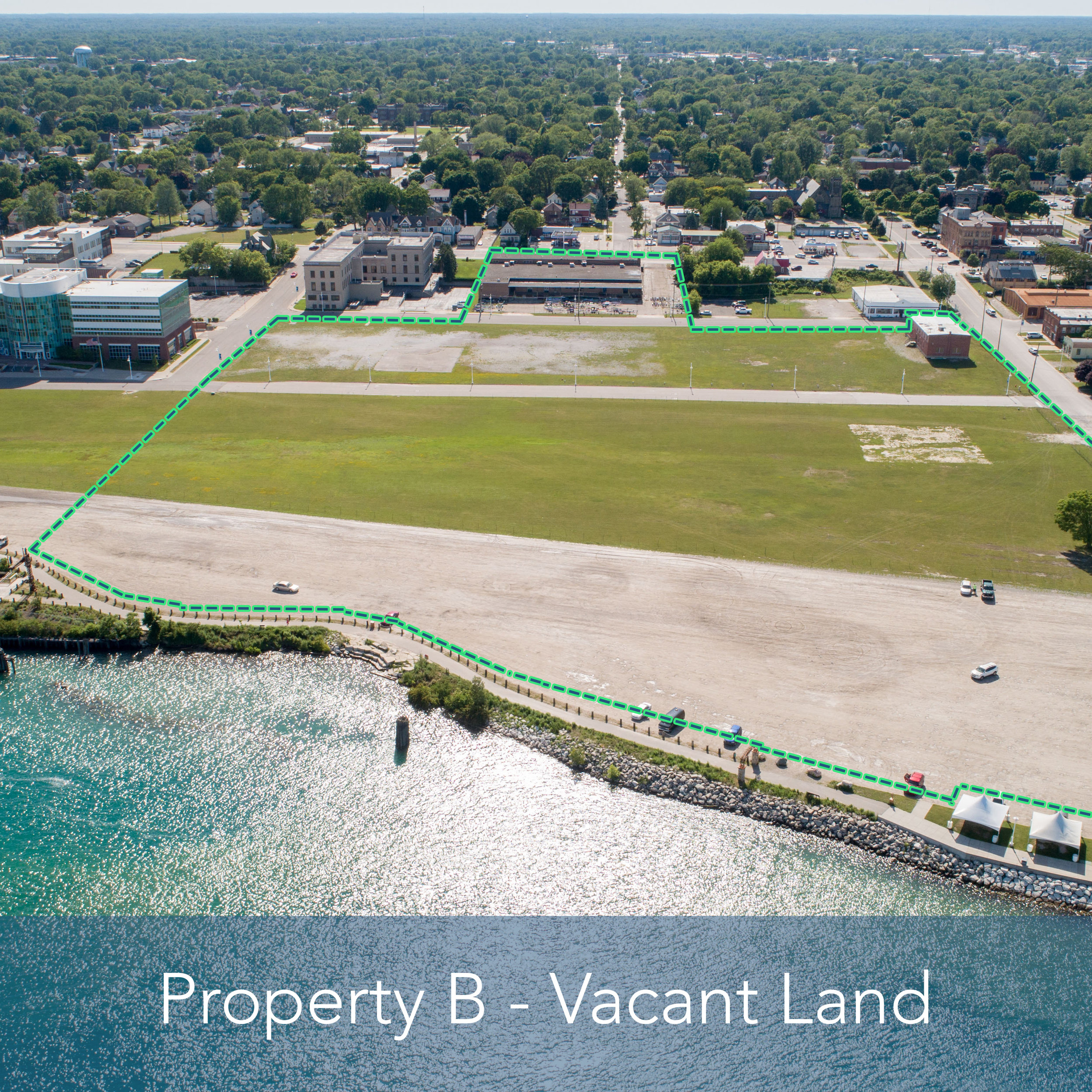 Property B - 16 Acre Vacant Lot   Potential for a partnership property with St. Clair River frontage.