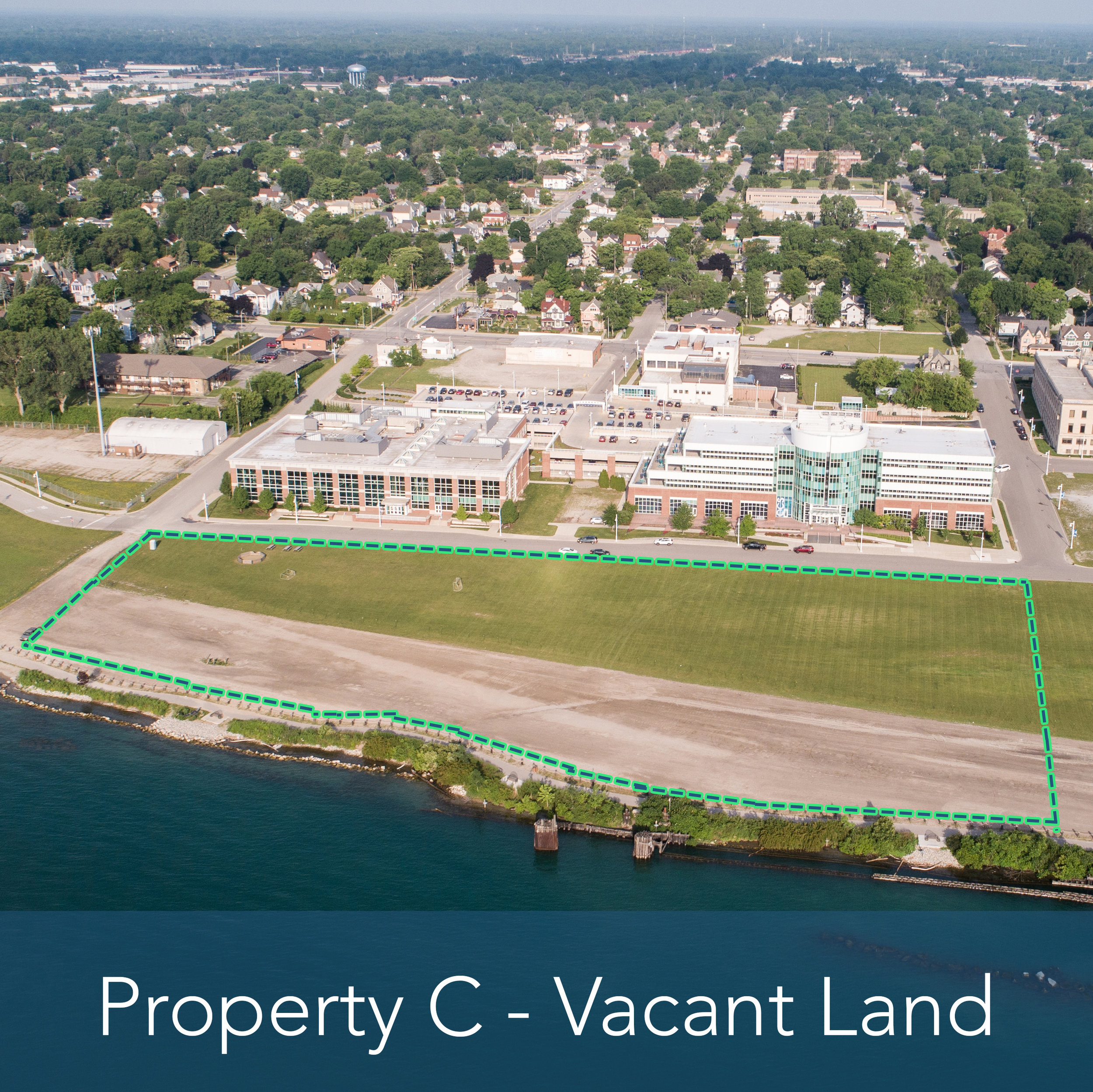 Property C - 5.7 Acre Vacant Lot   Waterfront property adjacent to multiple developed properties.