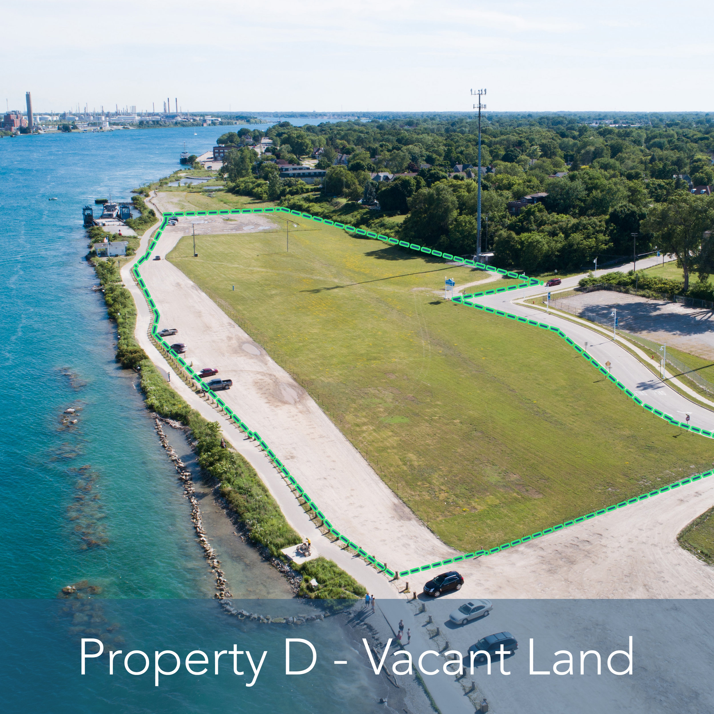 Property D - 8 Acre Vacant Lot   Large vacant lot on the St. Clair River.