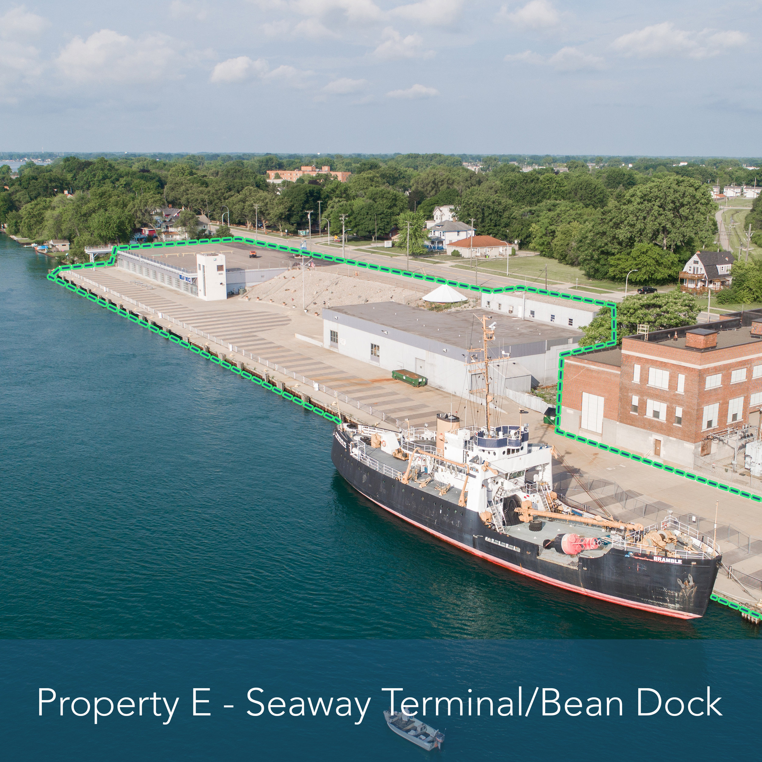 Property E - Seaway Terminal/Bean Dock   Premier location for development on the St. Clair River.