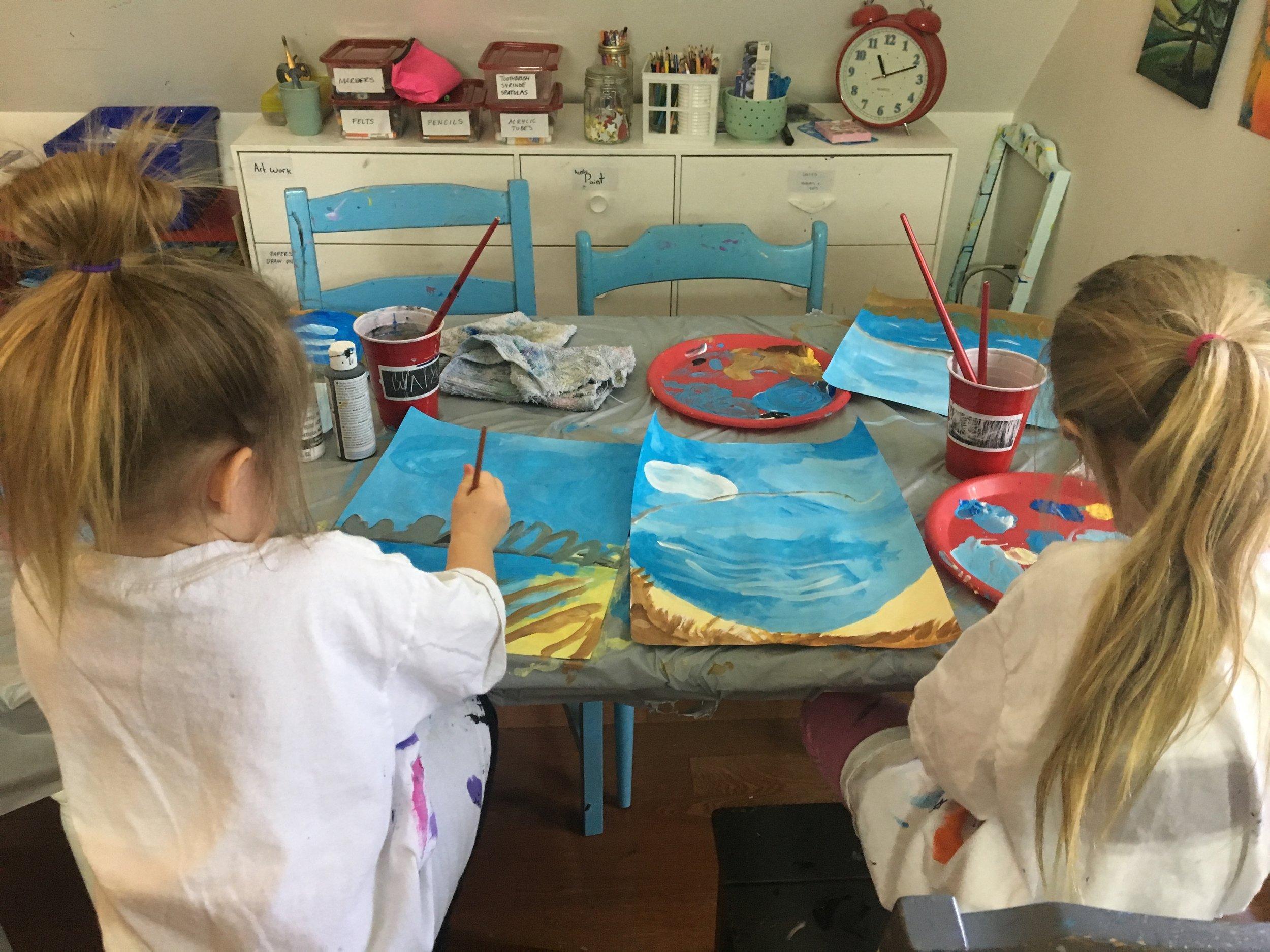 kids painting in the studio.JPG