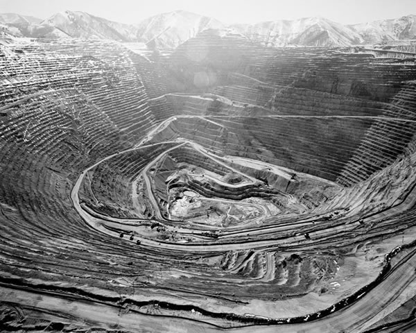 Bingham Mine 2006, Photograph by  Michael Light .