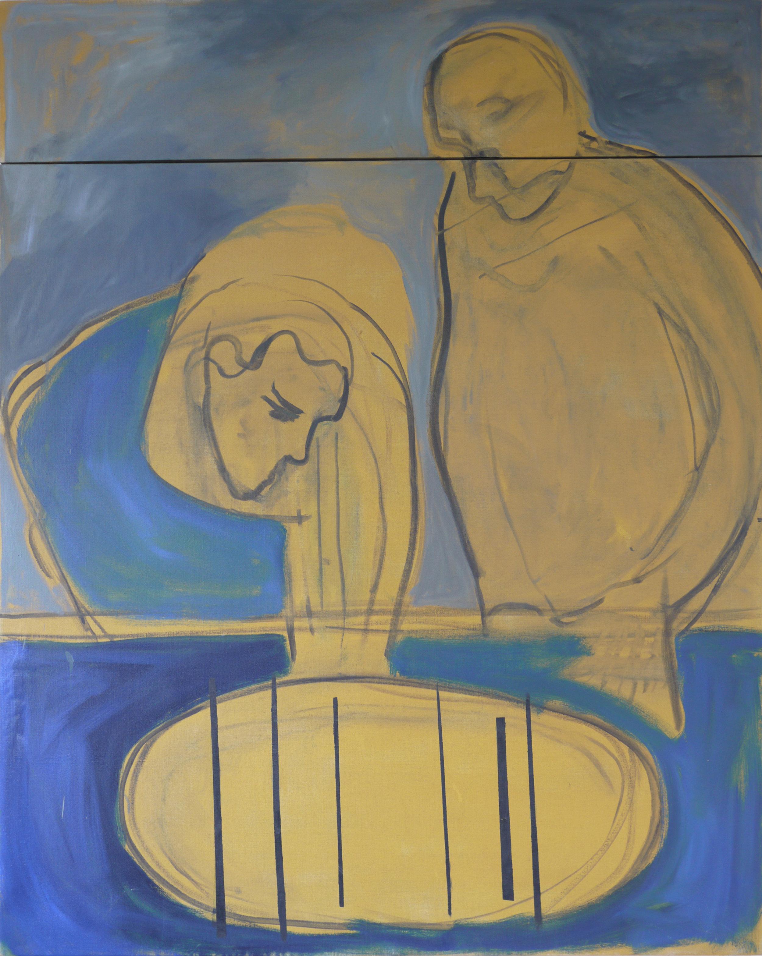 All matter is the same, oil on linen, 153 x 120 cm