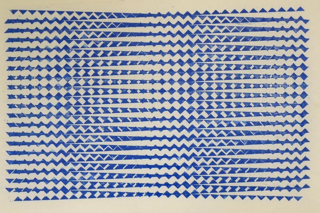 """Surprise"", print on Japanese paper, 48 x 30 cm."