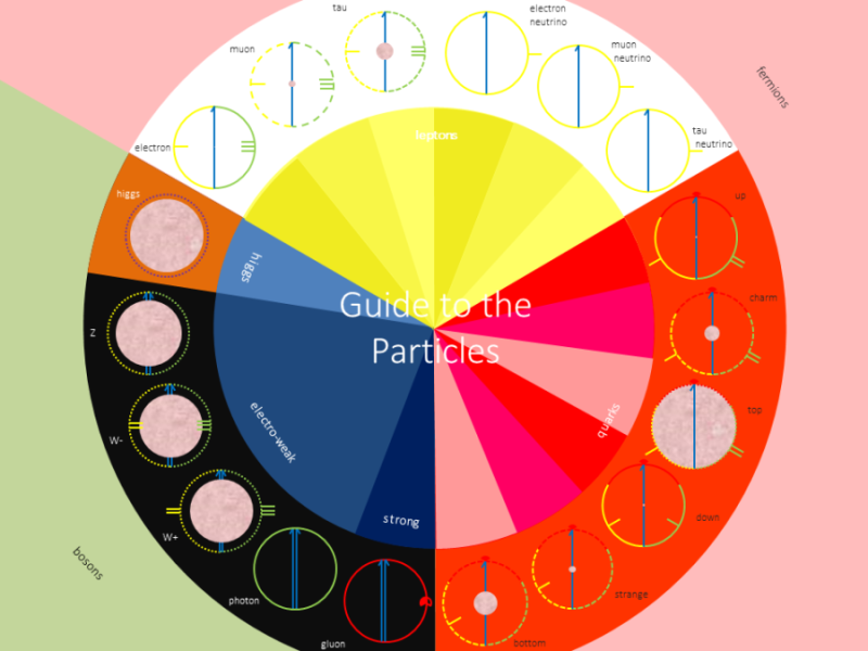 Summary scheme. The 18 particles that make up the Universe.