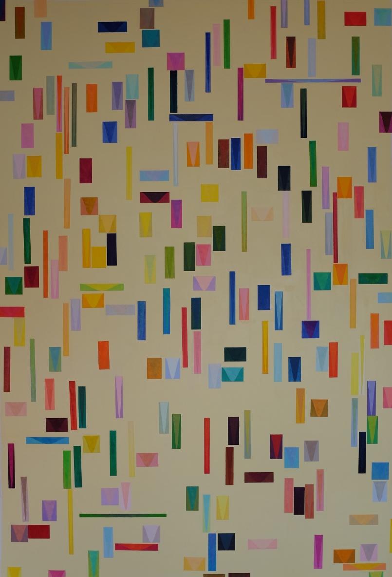 'Light is like Rain', oil on canvas, 250 x 165 cm.