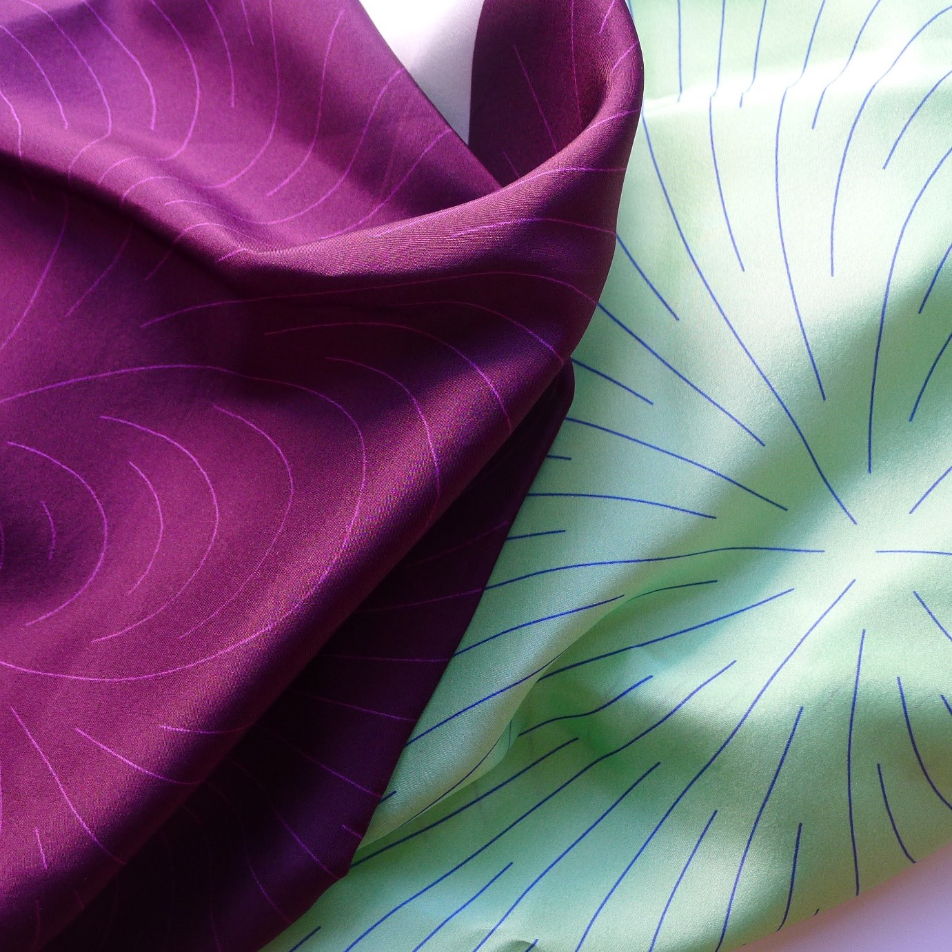 fabrics - Various dimensions.Nature's hidden patterns printed onto Habotai silk.