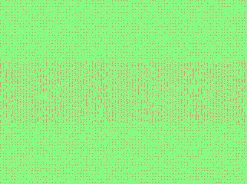 Spring Double Dot Interference Pattern