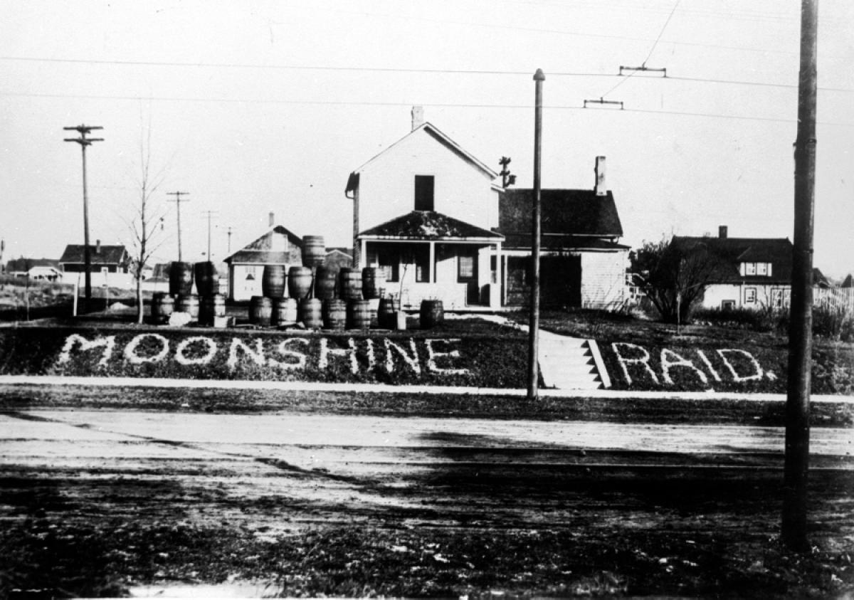 Prohibition prompted a surge in illegal moonshine production across the US in the 1920s and early 1930s