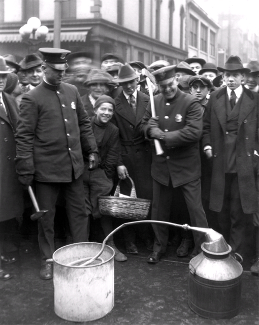 Dayton Liquor Squad Prepares to Bust a Still circa 1920s