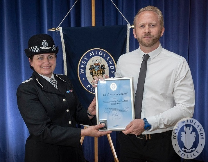 PCSO Andy Pope    Honoured for identifying 1,000 suspects