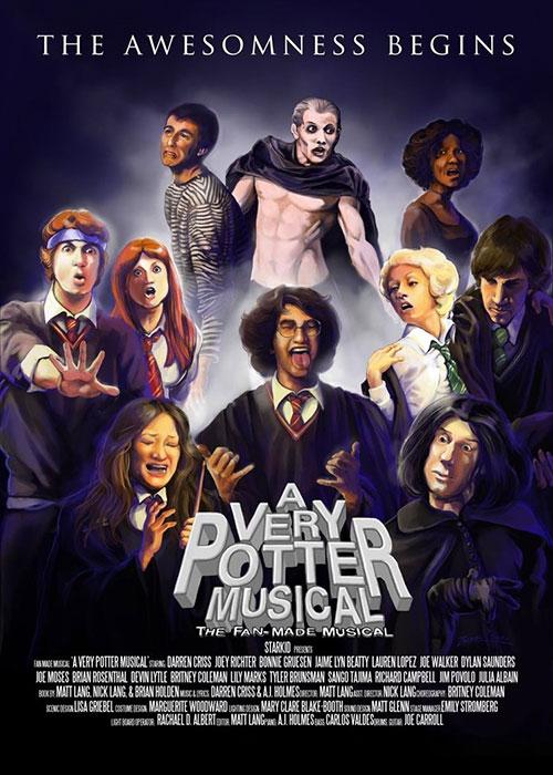 """Fan made poster for """"A Very Potter Musical"""" from deviantart.com/zersen"""
