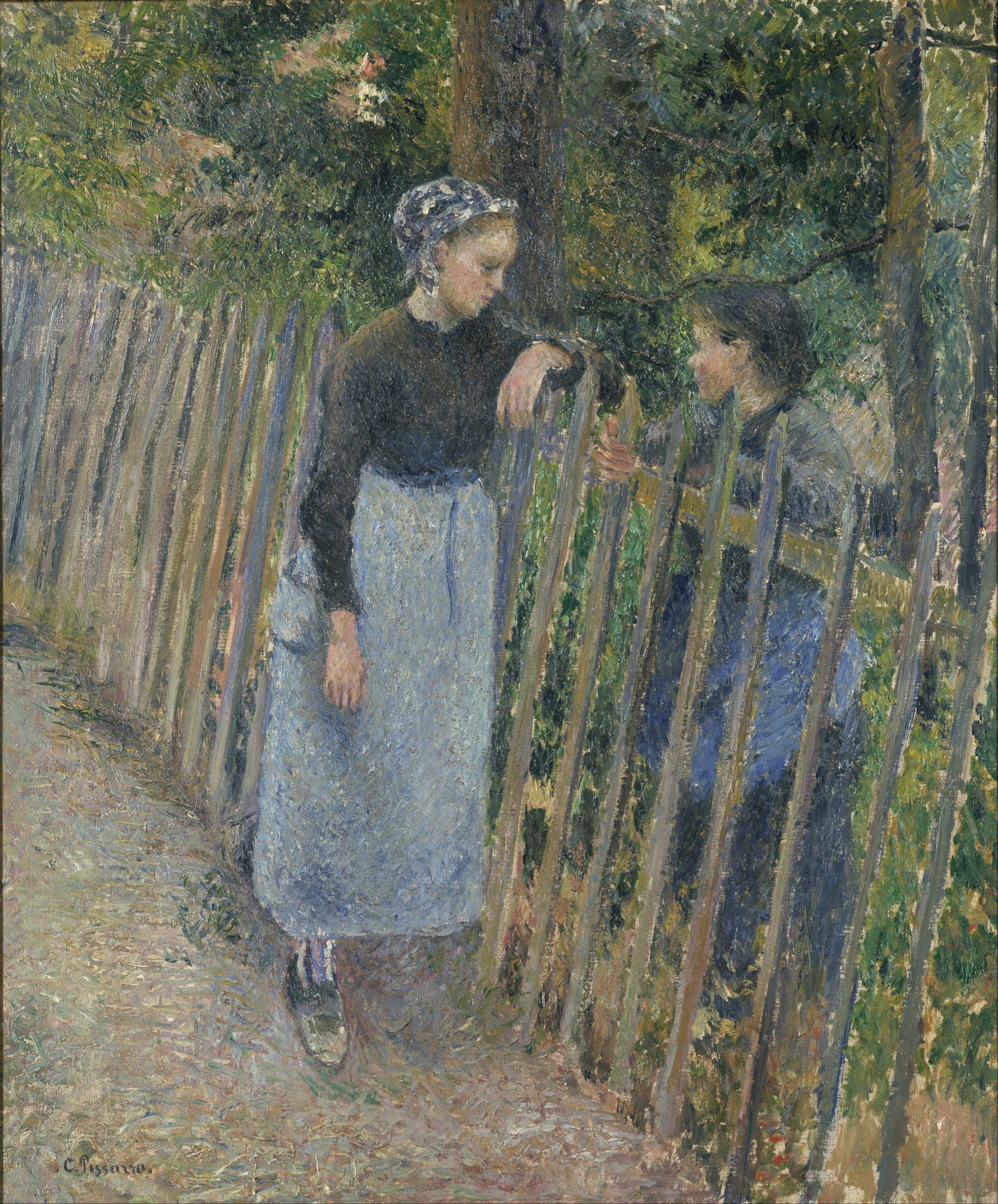 """Conversation"" by Camille Pissarro from Wiki Commons"