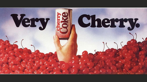 A vintage ad for Cherry Coke from the Coca-Cola company that I fully support