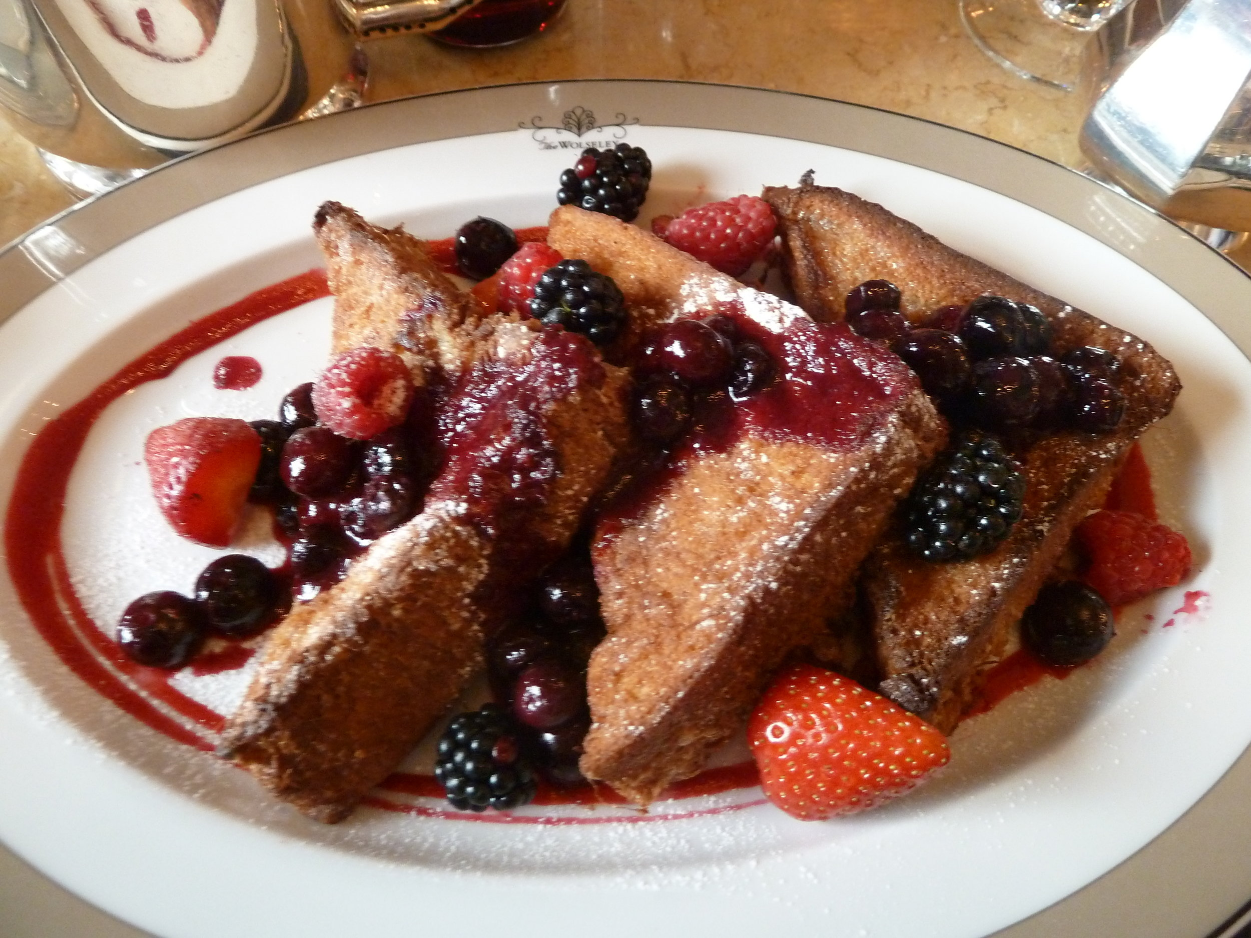 A delicious looking plate of French Toast from Wiki Commons