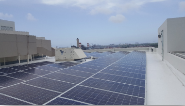 Centro Internacional de Mercadeo - 99.96 kW PV Roof top• Fixed tilt system installation• Solar Warehouse assembly• 294 Q-Cells PV modules• 294 Enphase Microinverters M250• Maximizing AC Output