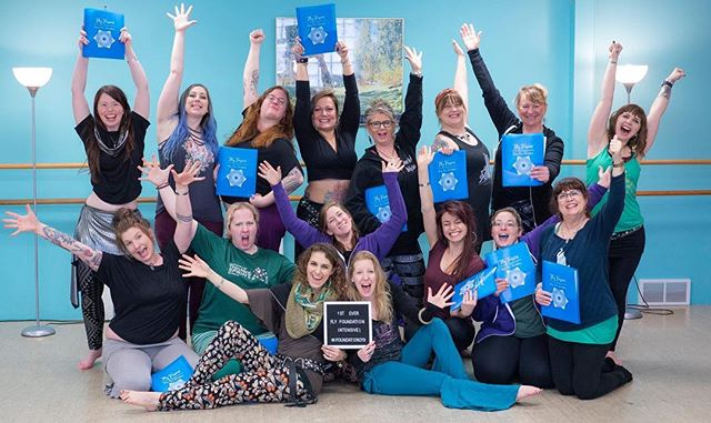 This was one of the craziest and most rewarding things I've ever done. I had my heart set on creating a dancer and teacher certification program for @flyfusion but it seemed like such a pipe dream. But here is tangible proof! I did the damn thing! And look at how unenthusiastic this group is! 😉  Watch out, world! Certified Fly dancers and teachers are coming to a studio near you! And now I'm off to create the HOT PINK manual for Phase II! 😇  P.S. This was the first but definitely not the last Phase I training! Registration is now open for our September 2019 intensive! Link in my profile! 😊