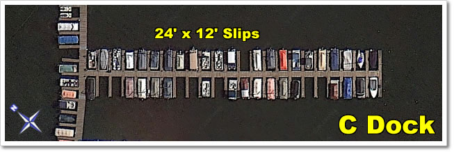 C Dock  contains all 24' x 12' slips.