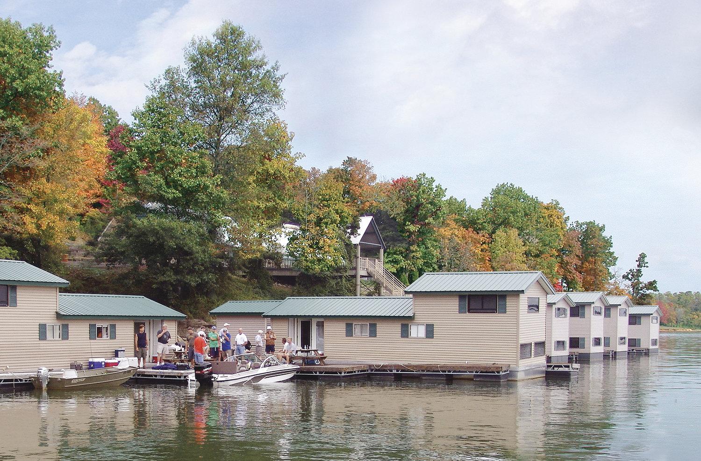 Floating Cabins — Patoka Lake Marina & Lodging