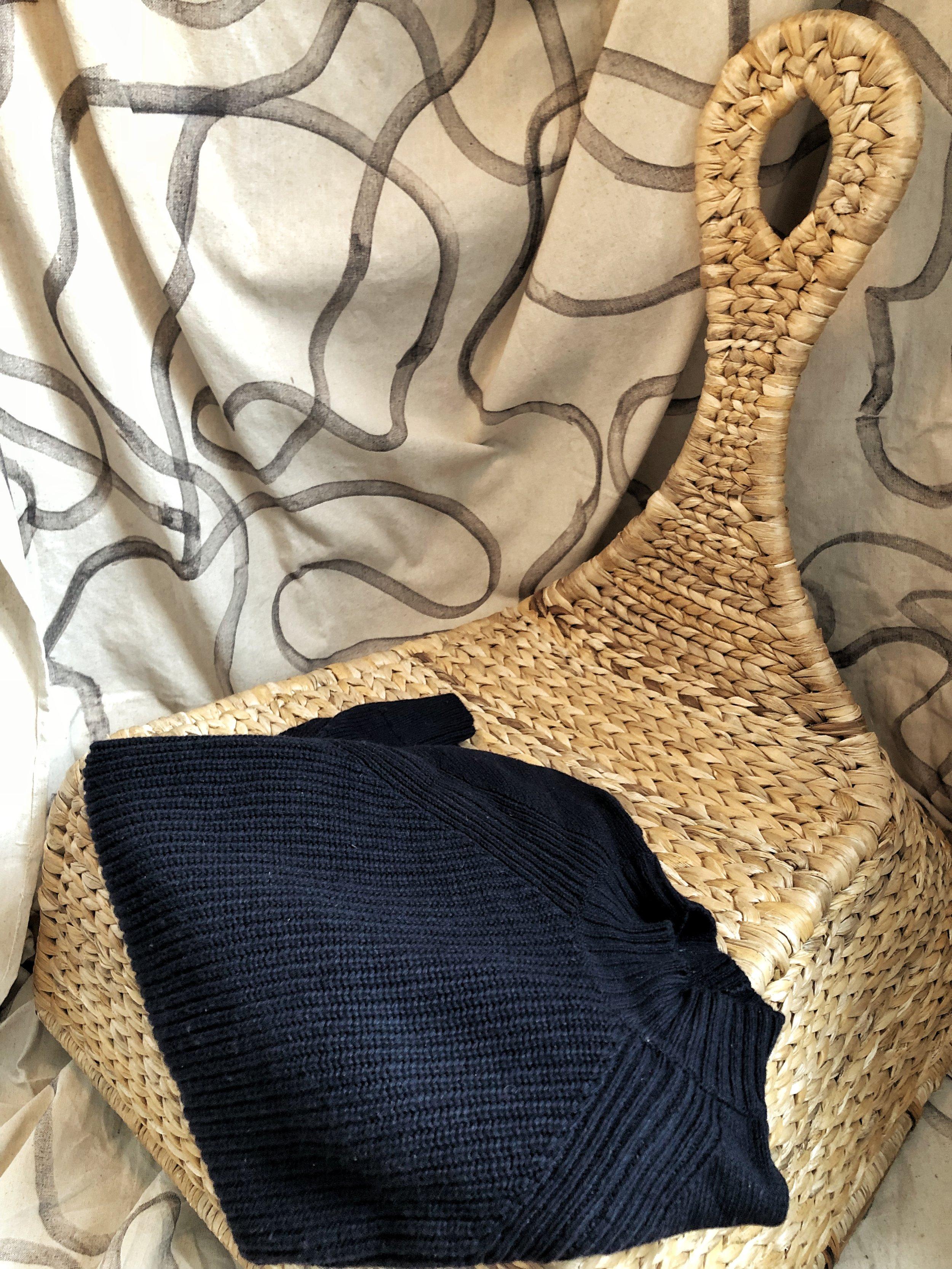 everlane mock neck wool sweater.