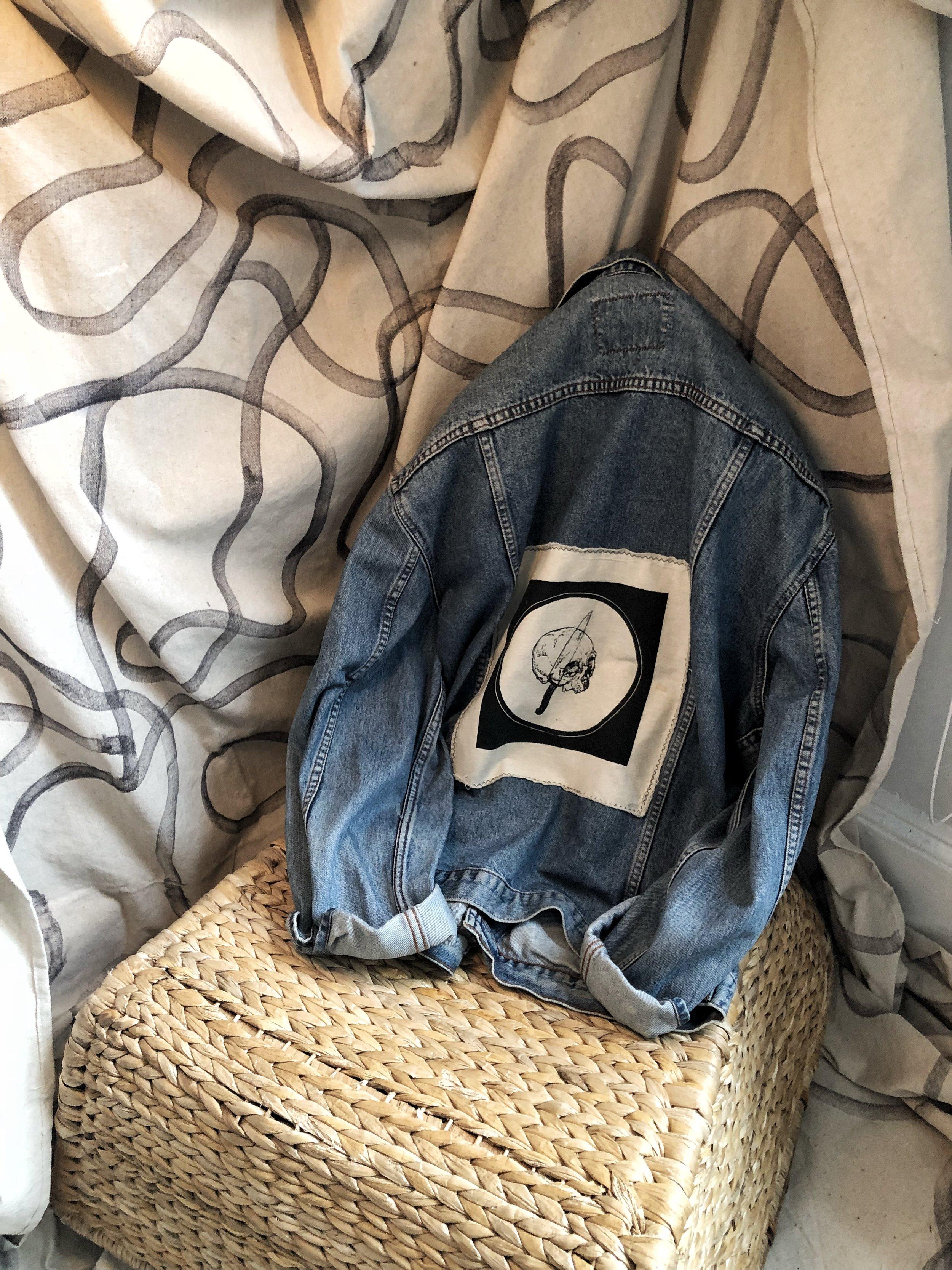 vintage denim custom jacket