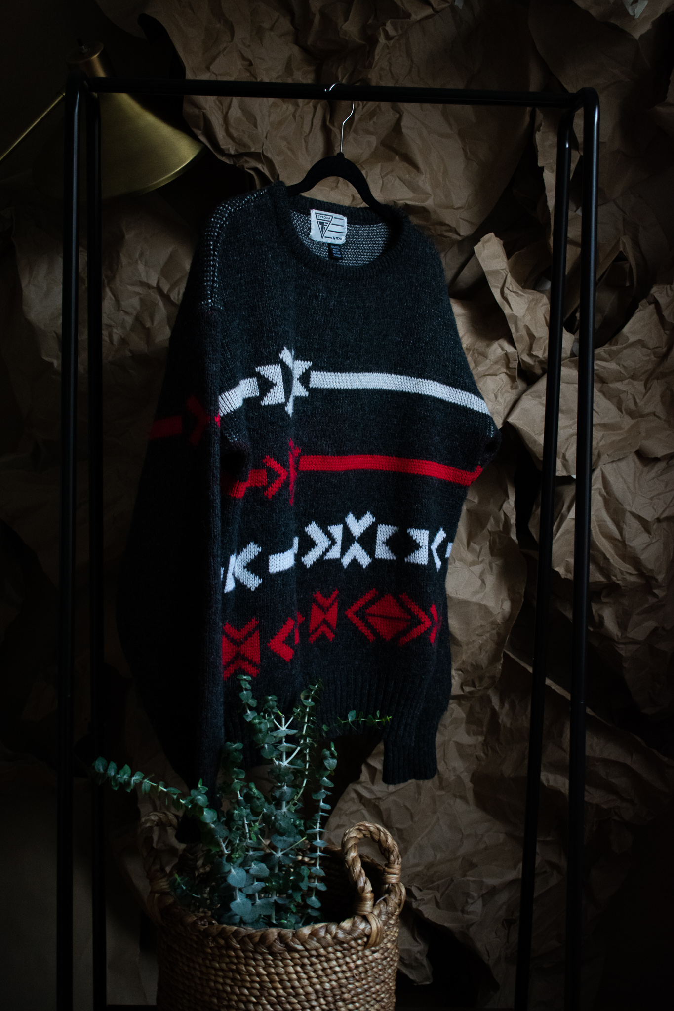 vintage wool sweater. 2 years. $5. good as new.