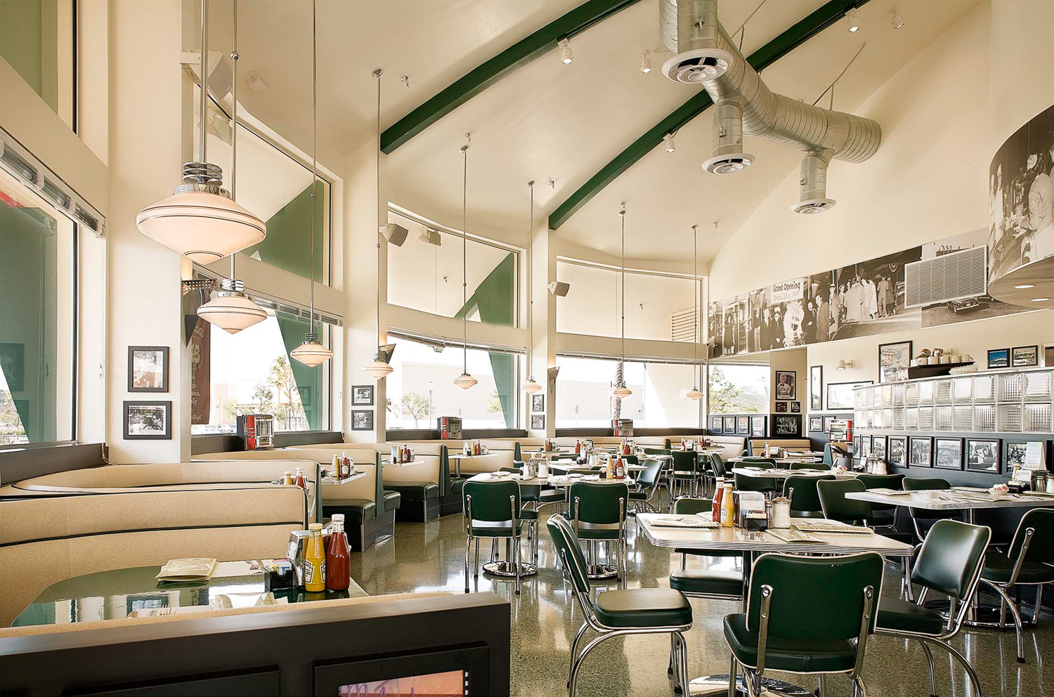 Available light interior photography of Mel's Diner in Los Alamitos for Continental Painting, Inc.