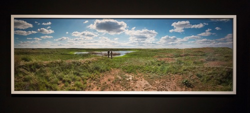 Ground Zero (first Soviet atomic bomb test, 7.00am, 29 August 1949, The Polygon, Kazakhstan) 2015  Pigment print,920 x 2750 mm  Image courtesy of the artist and Stills Gallery.