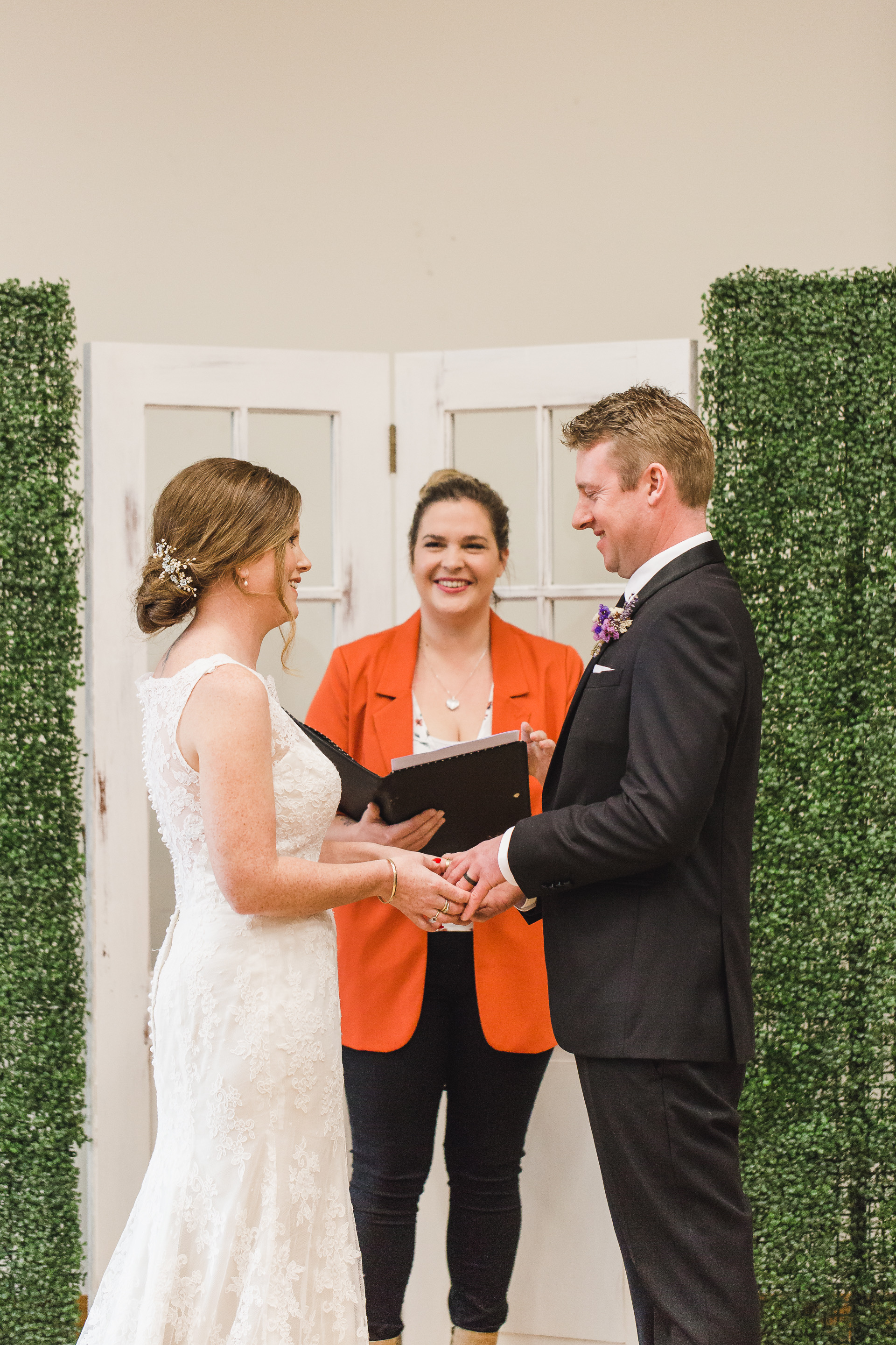 Jessica & Andrew - THANK YOU so much for making our day perfect. and for giving us the ceremony we wanted. it was so nice only having to remember i do and you made us both so relaxed.