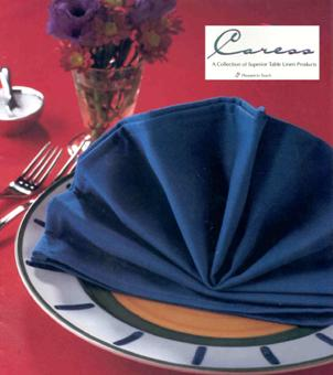 Caress is available in black, white or a range of colours. It is a durable This product always looks great whether it is starched or not.