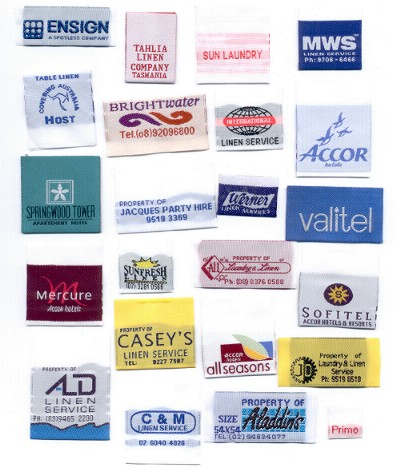 Labels    100% cotton and customized to your needs.