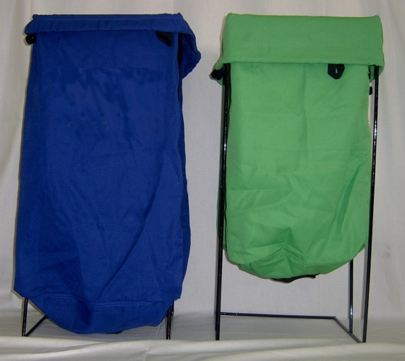 Heavy duty commercial quality laundry bags available in two sizes:   - Standard: 34cm wide x 36cm deep x 73cm tall (approx.)  - Large:36cm wide x 54cm deep x 78cm tall (approx.)   A range of colours are available including:   - Black - White - Blue - Red - Yellow - Blue - Orange - Green - Purple - Brown