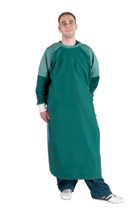 Barrier gown   Cotton rich construction  Meets AS3789.3 requirements