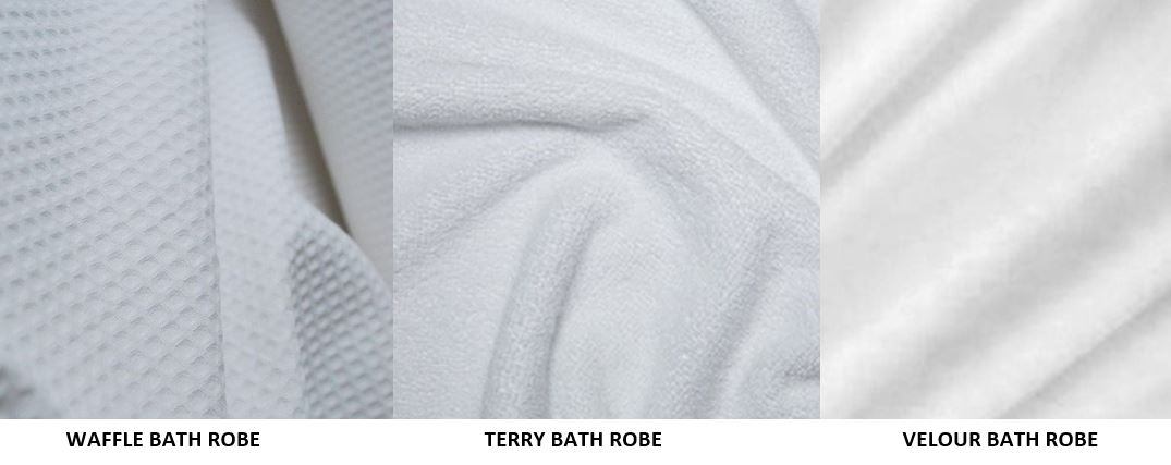 Luxury bath robes - Available in 100% cotton, one size fits most