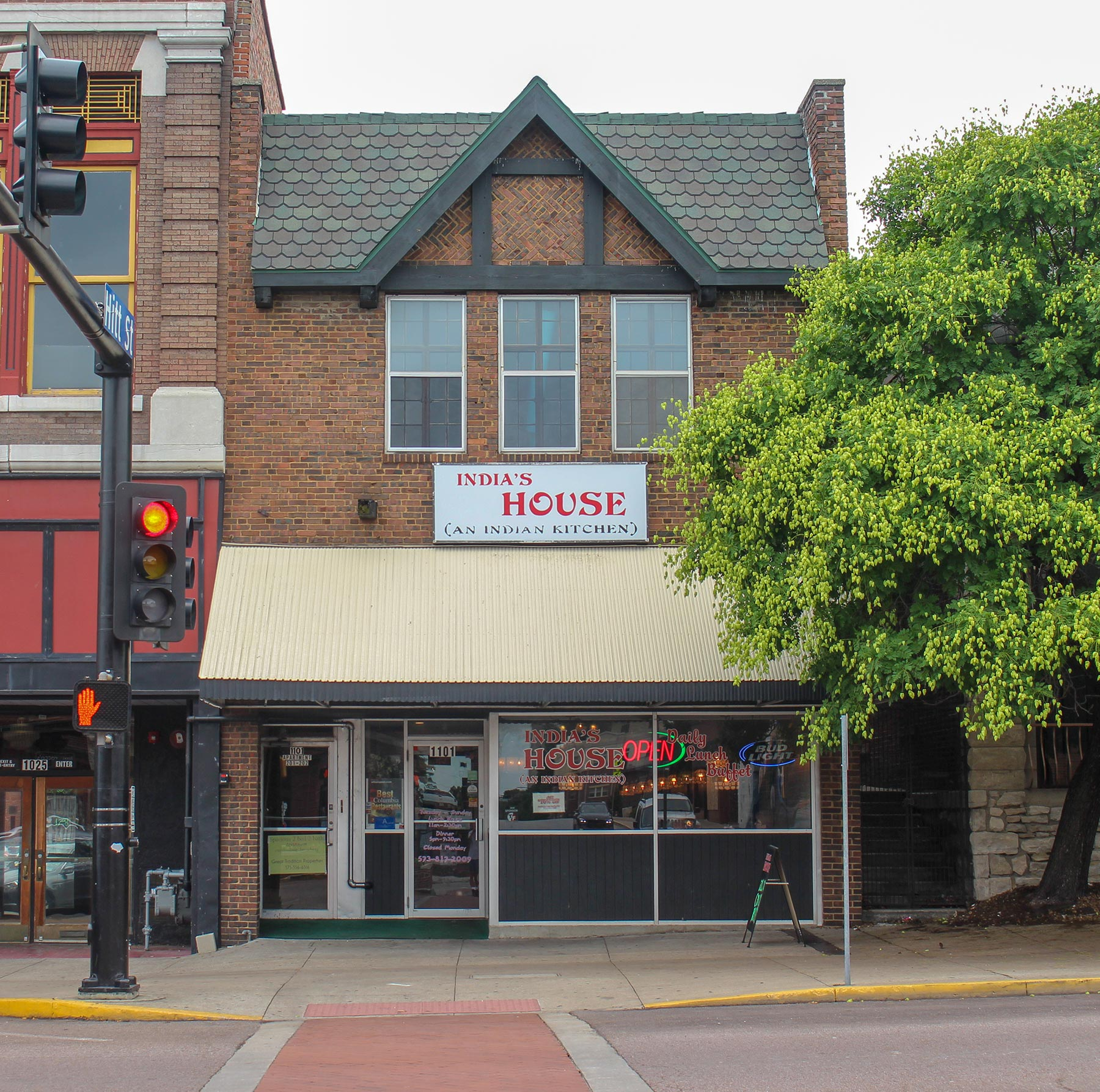 India's House Indian restaurant in downtown Columbia, MO