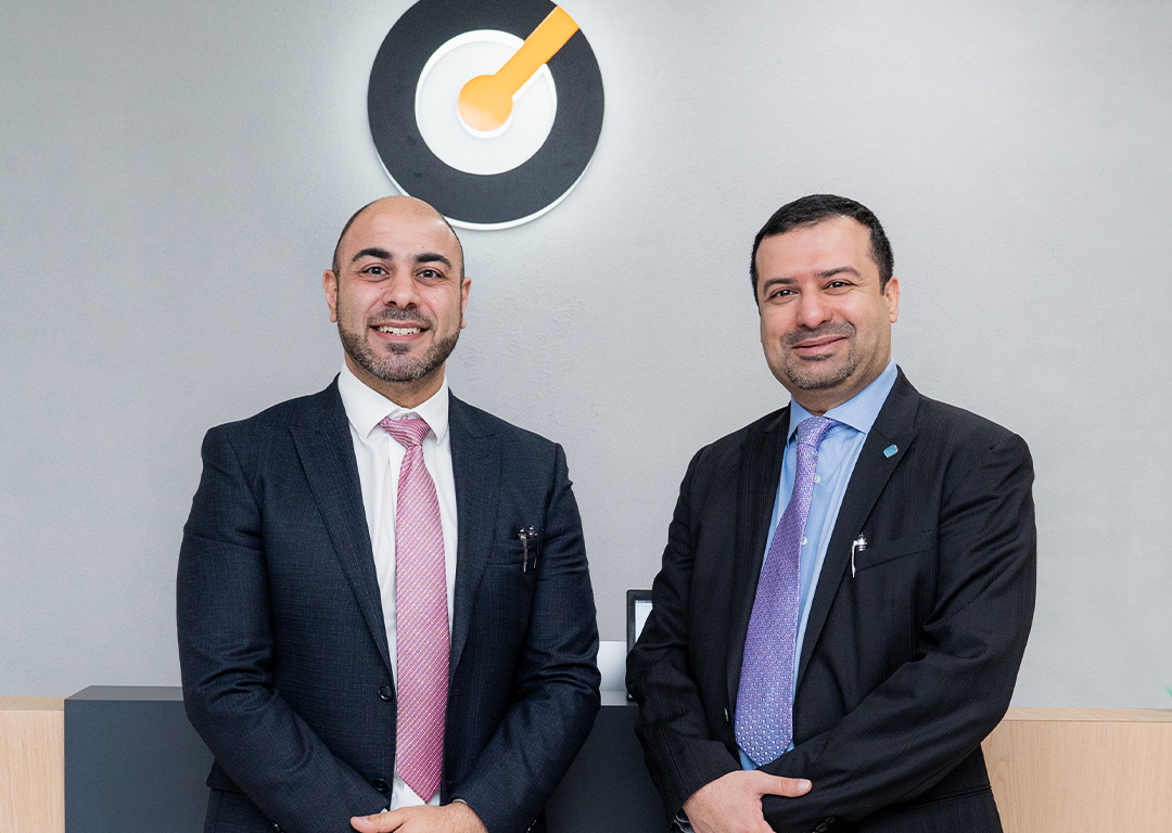From L-R: CEO of Till Payments Shadi Haddad and CEO of the Dubai Blockchain Centre Dr Marwan Alzarouni at Till Payments