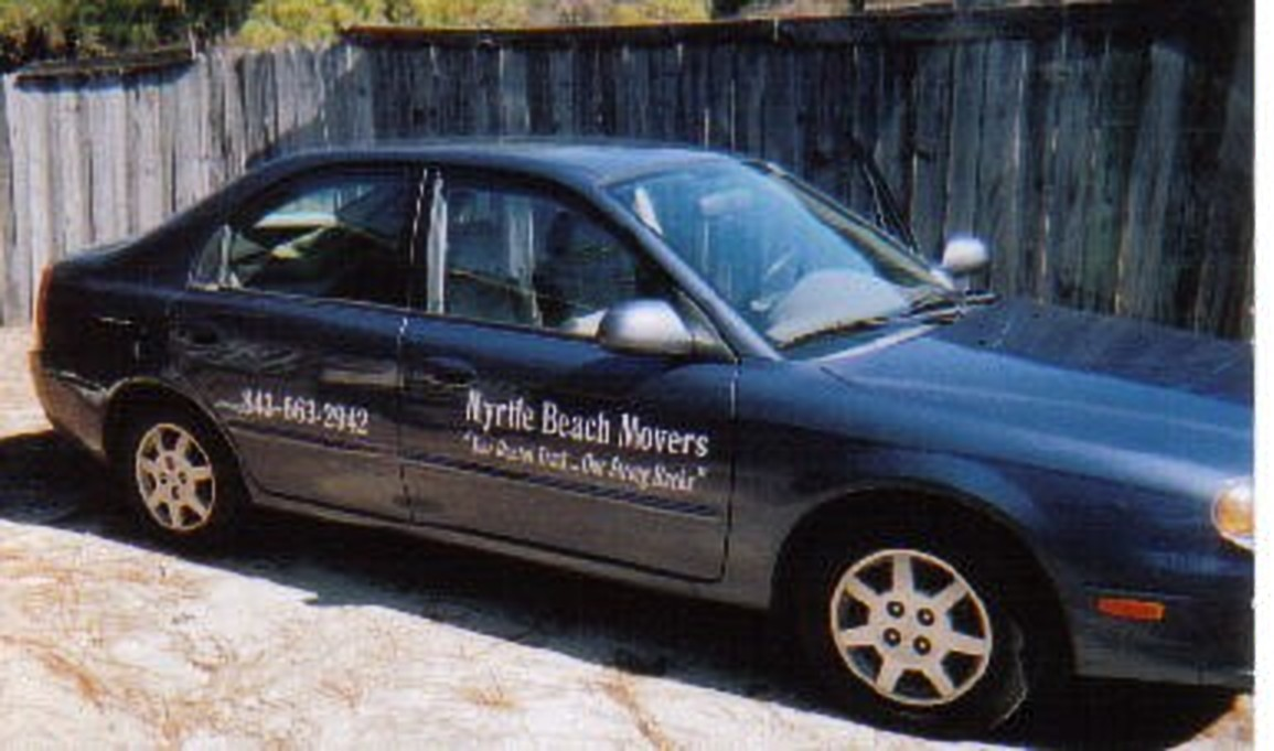 The first company car for Myrtle Beach Movers® Company, a 2002 KIA Spectra spent a great deal of time transporting men to Wilmington,, Charleston, and Florence. It carried 3 men, a dolly, and 20 blankets. Our home/office was in Cherry Grove, SC.
