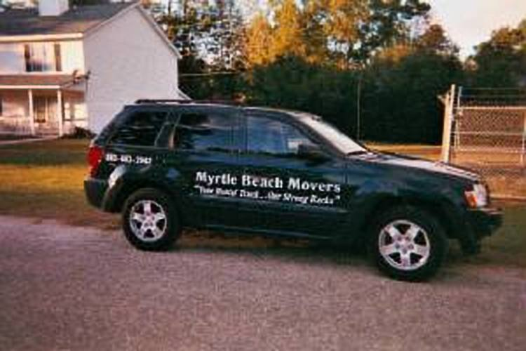 Our second Myrtle Beach Movers® Company vehicle acquired in 2008. A 2006 Jeep Cherokee gave greater area for the men and equipment.