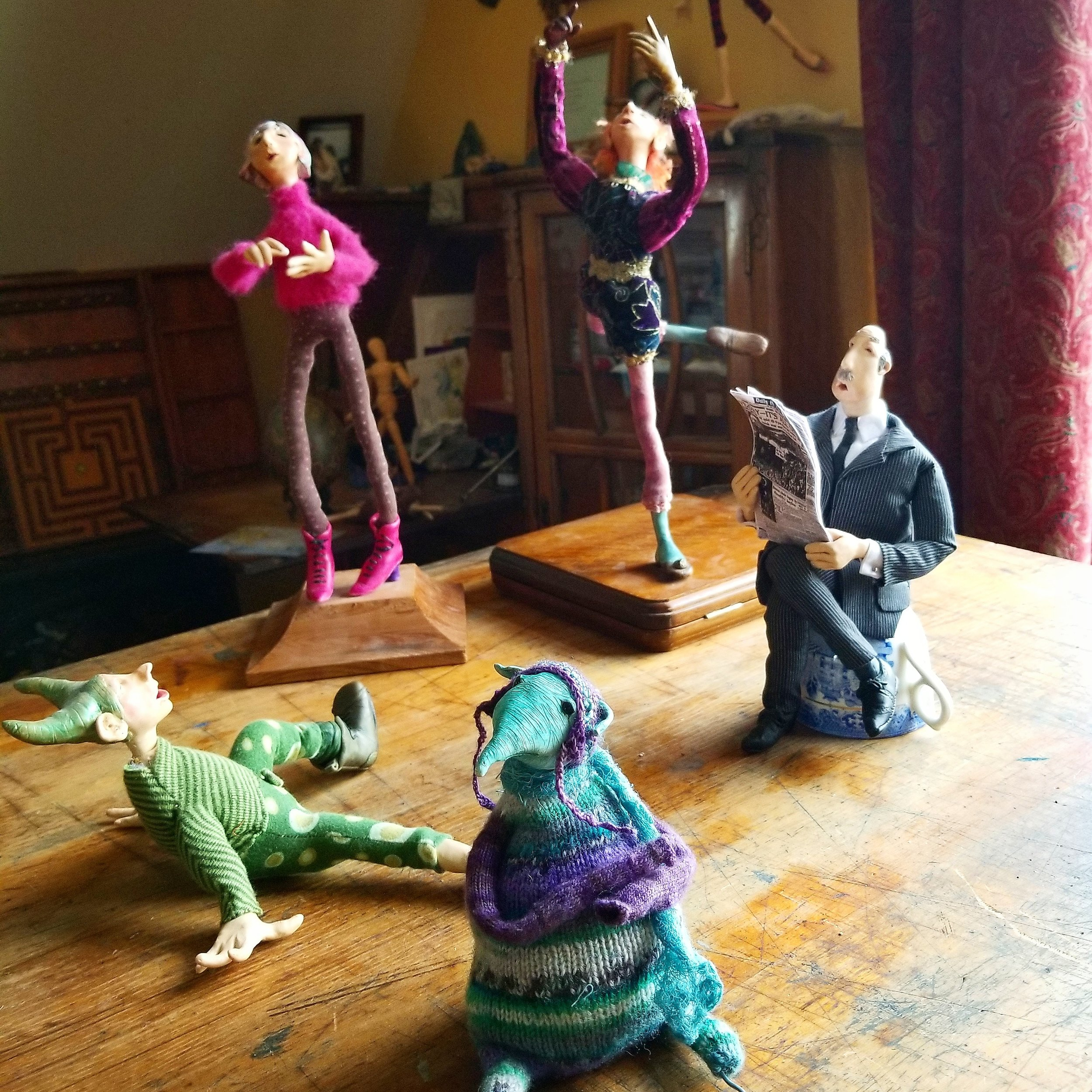 A few examples of my sculptural figures.