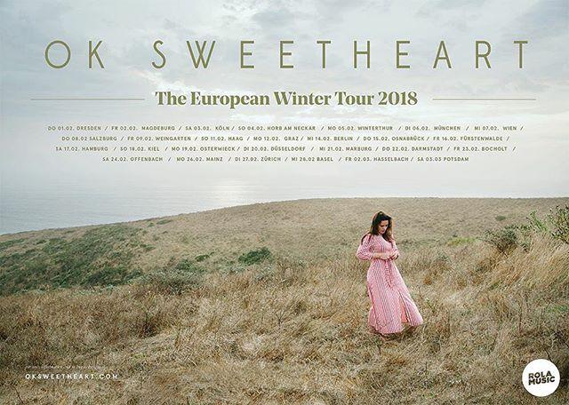 "European Winter Tour 2018. ""Far Away"" to be released on February 9th, 2018. . . . . . #seattle #seattlemusic #seattlemusicscene #faraway #oksweetheart #europe #tour"