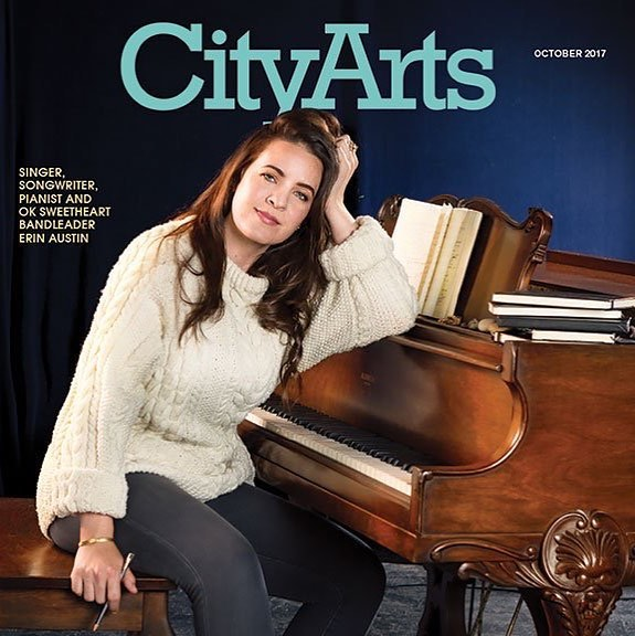 """Erin Austin is a goddamn songwriting machine"" - @zwickelicious in October's issue of @city_arts_magazine Link in profile. . . . . . #seattle #seattlemusic #cityarts #songwriting #songwriter #october #fall #marshmellowsweater"