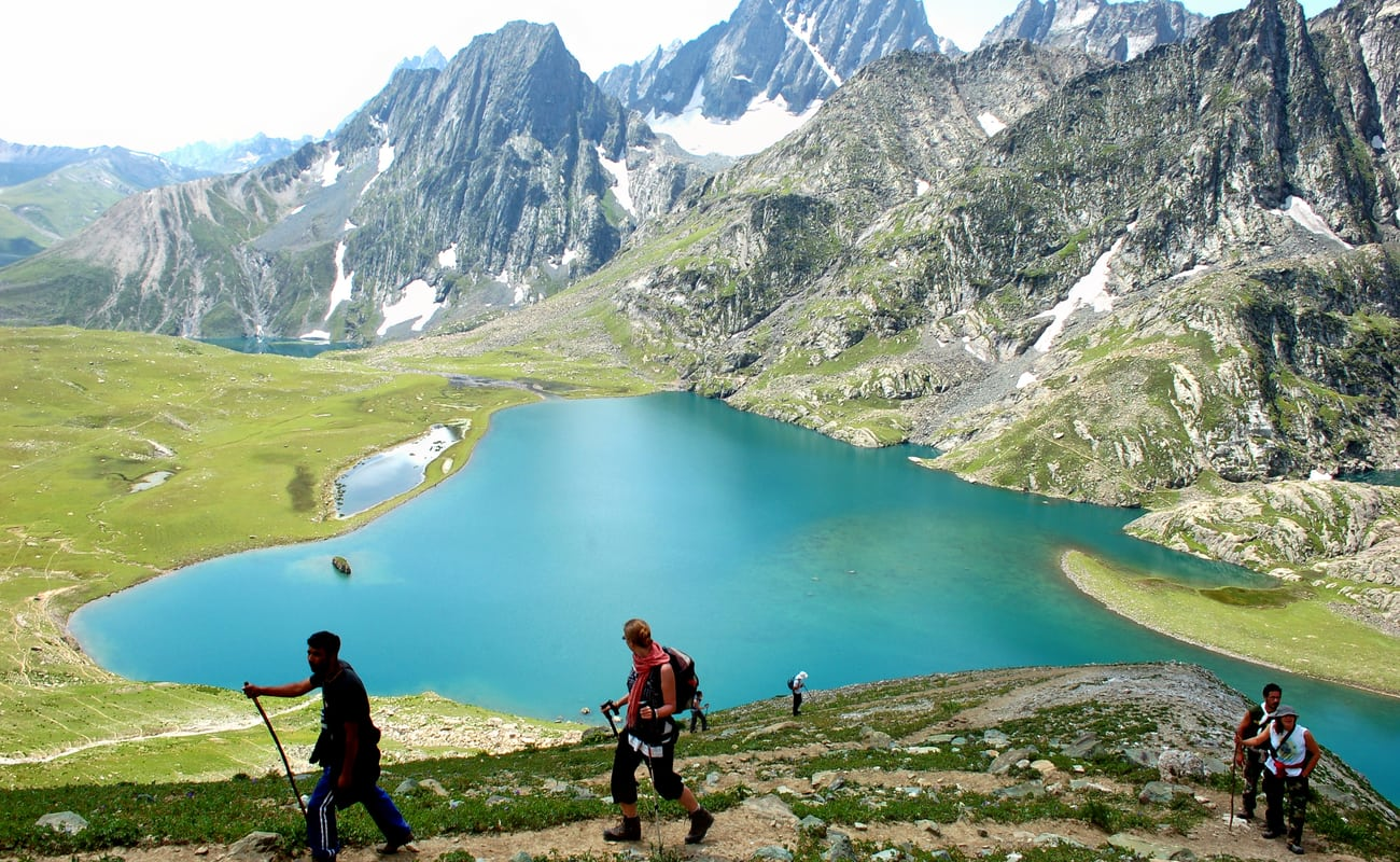 Great Lakes, Kashmir - India - This 72 km trek is a breathtaking hike through endless maple trees with the crystal clear view of the nearby villages downhill.It offers the thundering silence of the Kashmir lakes and its spell binding virgin beauty . Apart from the lakes, even the barren milky snow clad mountains stand out in might and every bit of nature nestles to make a wonderful picture.Trek Duration - 8 DaysNext Journey - August, 2019